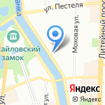 Русские Сезоны на карте Санкт-Петербурга