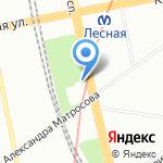 Водопад на карте Санкт-Петербурга