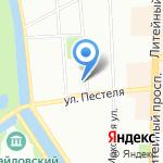 Тарелка на карте Санкт-Петербурга