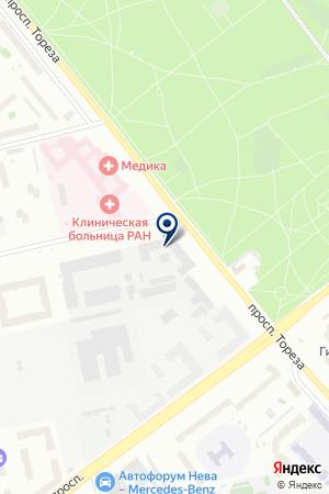 ПРОИЗВОДСТВЕННО-ТОРГОВАЯ КОМПАНИЯ МИРТЕКС САНКТ-ПЕТЕРБУРГ на карте Санкт-Петербурга