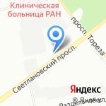 Интерсервис на карте Санкт-Петербурга