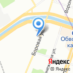 Иннорсис на карте Санкт-Петербурга