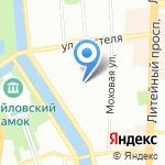 Аполлон на карте Санкт-Петербурга