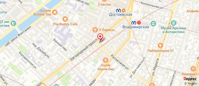 Карта расположения пункта доставки Lamoda/Pick-up в городе Санкт-Петербург