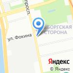 Синтез на карте Санкт-Петербурга
