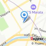 Средняя общеобразовательная школа №612 на карте Санкт-Петербурга