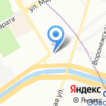 Ялта на карте Санкт-Петербурга
