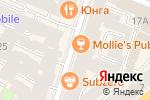 Схема проезда до компании Mollie`s в Санкт-Петербурге