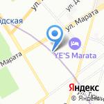 Квартира №5 на карте Санкт-Петербурга