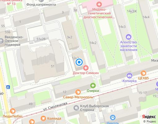 Управляющая компания «Регион» на карте Санкт-Петербурга