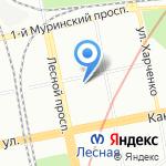 Санкт-Петербургский государственный политехнический университет на карте Санкт-Петербурга