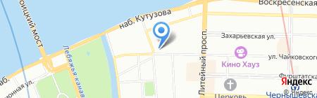 Брецель на карте Санкт-Петербурга