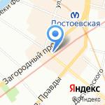 Дивекс на карте Санкт-Петербурга