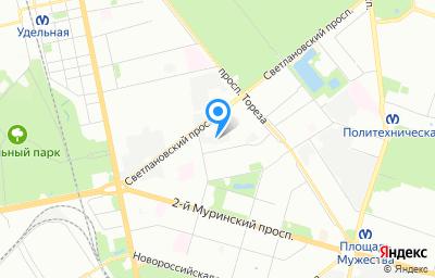 Местоположение на карте пункта техосмотра по адресу г Санкт-Петербург, ул Орбели, д 35 литер в