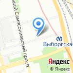 Магазин вологодского текстиля на карте Санкт-Петербурга