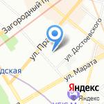 Дарвик на карте Санкт-Петербурга