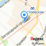 Скарлетт на карте Санкт-Петербурга