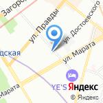 Mail Boxes Etc на карте Санкт-Петербурга