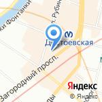 Океан Тур на карте Санкт-Петербурга