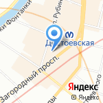 Фактор комфорта на карте Санкт-Петербурга