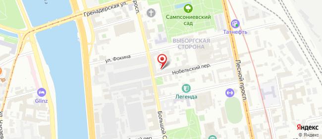 Карта расположения пункта доставки Санкт-Петербург Большой Сампсониевский в городе Санкт-Петербург