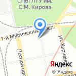 Почтовое отделение №153 на карте Санкт-Петербурга