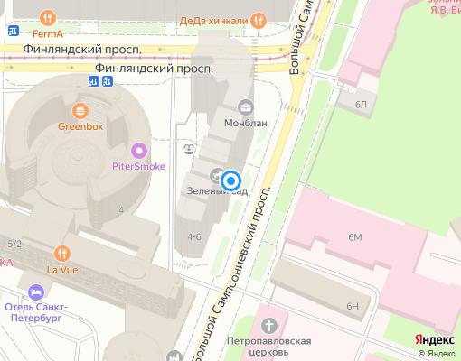 Управляющая компания «Южные Паруса» на карте Санкт-Петербурга