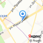 Скорпион на карте Санкт-Петербурга