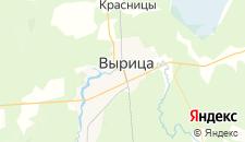 Гостиницы города Вырица на карте