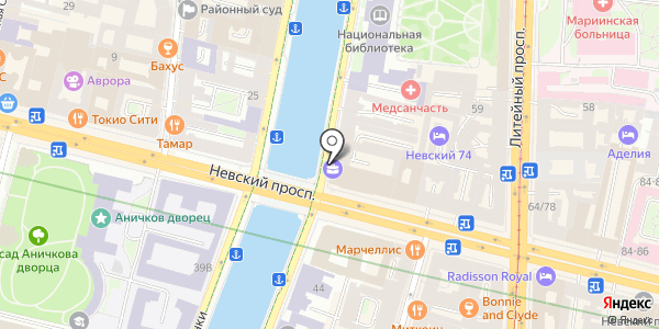 Невский 68. Схема проезда в Санкт-Петербурге