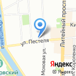 Архитектурная мастерская Сергея Рязанцева на карте Санкт-Петербурга
