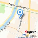 Школа языков Антонио Де Небриха на карте Санкт-Петербурга