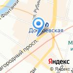 Коневец на карте Санкт-Петербурга