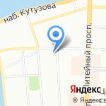 Городская больница №8 на карте Санкт-Петербурга