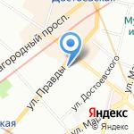 Столовая на карте Санкт-Петербурга