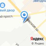 Автопродикс Ниссан на карте Санкт-Петербурга