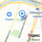 Курская на карте Санкт-Петербурга