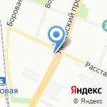 Форд на карте Санкт-Петербурга