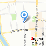 Детский сад №88 на карте Санкт-Петербурга