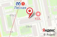 Схема проезда до компании Веретено Афины в Санкт-Петербурге