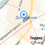 Интурист на карте Санкт-Петербурга