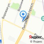 АРЕНА на карте Санкт-Петербурга