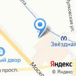 Два крючка на карте Санкт-Петербурга