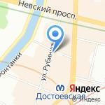 Академический Малый драматический театр-Театр Европы на карте Санкт-Петербурга