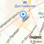 КсейЛер на карте Санкт-Петербурга