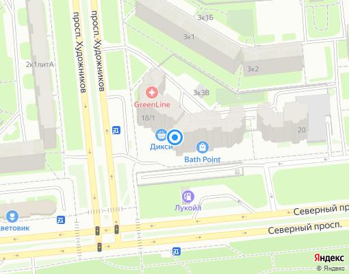 Товарищество собственников жилья «СОСНОВКА» на карте Санкт-Петербурга