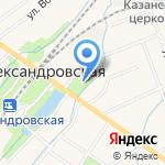Александровский на карте Санкт-Петербурга