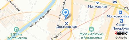 Златоустовская оружейная фабрика на карте Санкт-Петербурга