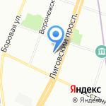 Жилкомсервис №1 Фрунзенского района на карте Санкт-Петербурга