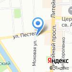 Золотая рыбка на карте Санкт-Петербурга